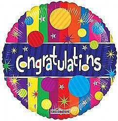 Congratulations Dots Balloon