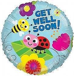 Get Well Bugs Balloon
