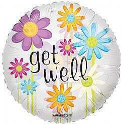 Get Well Daisies Clearview Balloon