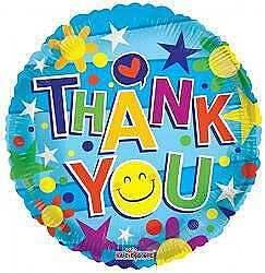 Thank you Smiley Face Balloon